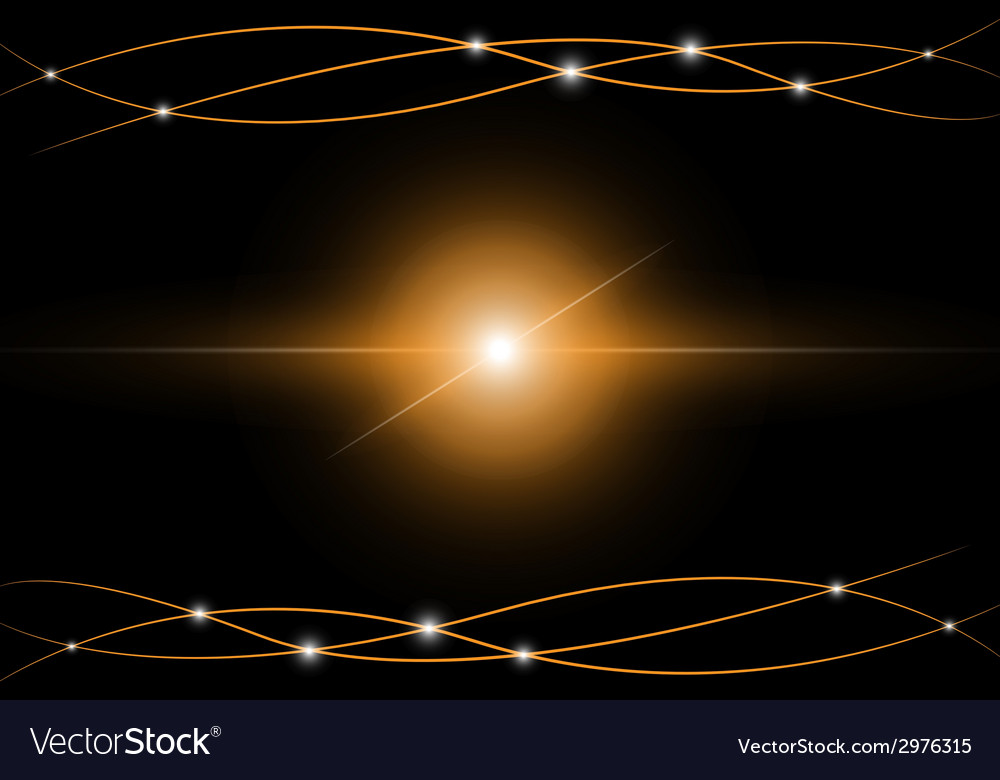 Yellow abstract beam light vector | Price: 1 Credit (USD $1)
