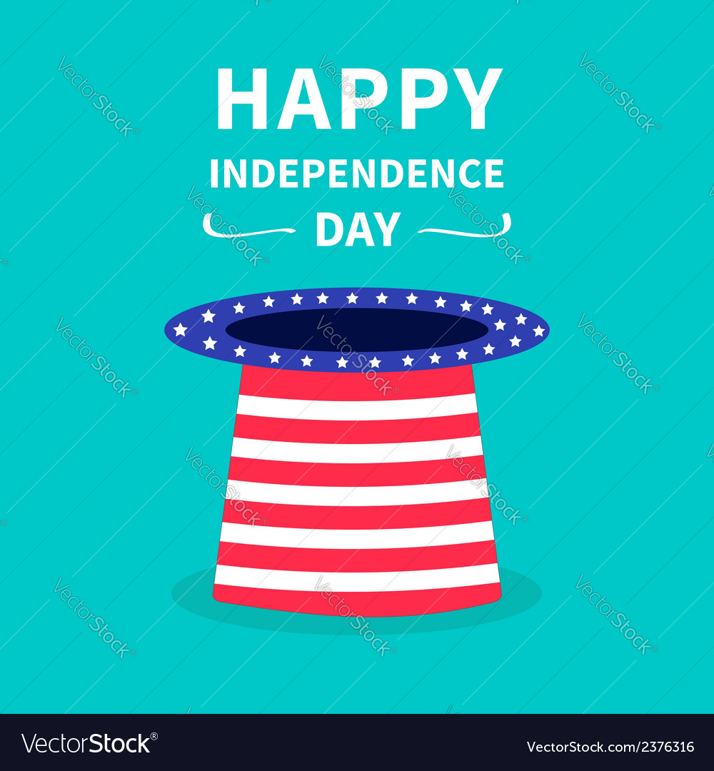 Big hat with stars and strip independence day vector | Price: 1 Credit (USD $1)