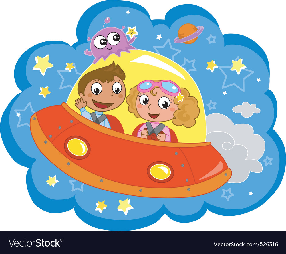 Cartoon spaceship vector | Price: 3 Credit (USD $3)