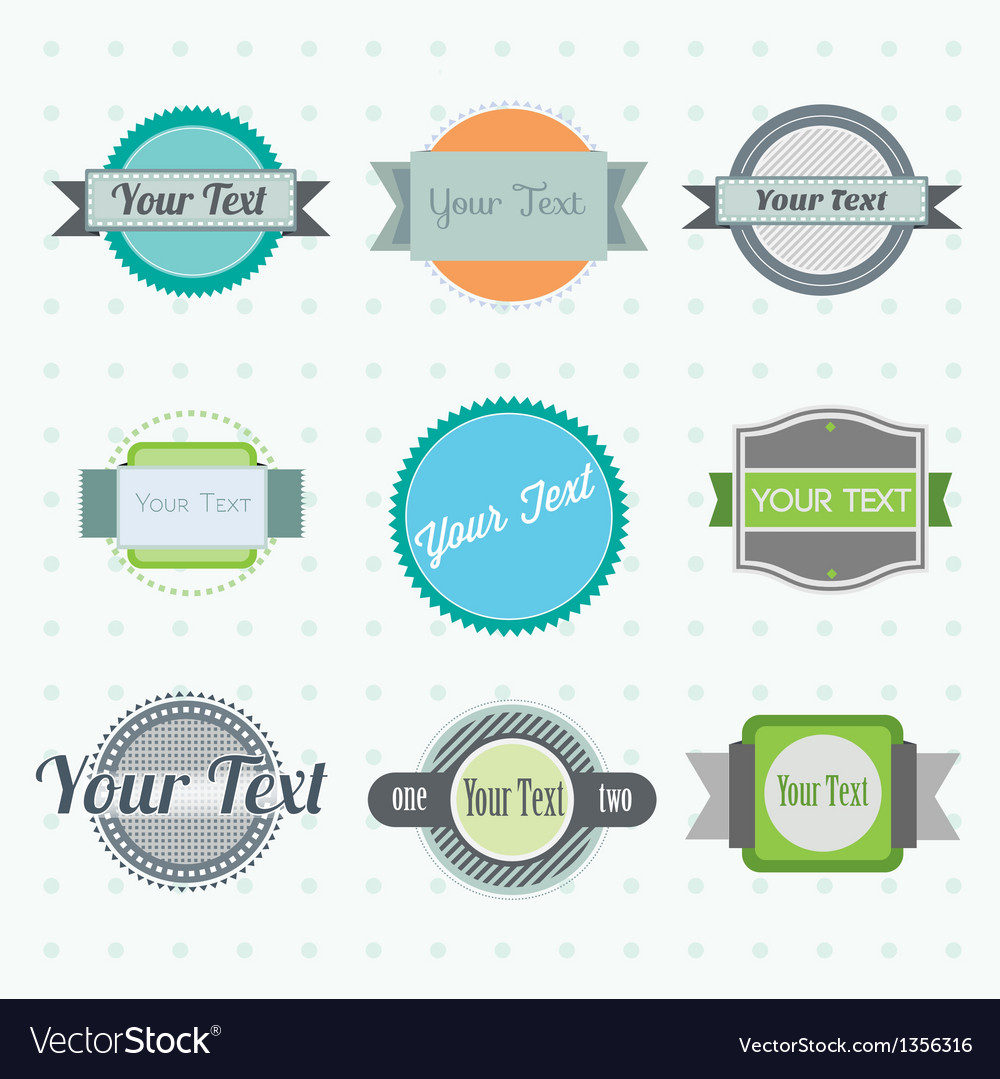 Collection of labels 2 vector | Price: 1 Credit (USD $1)