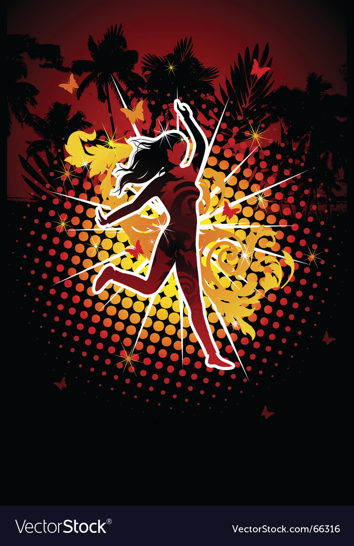 Dancing diva vector | Price: 1 Credit (USD $1)