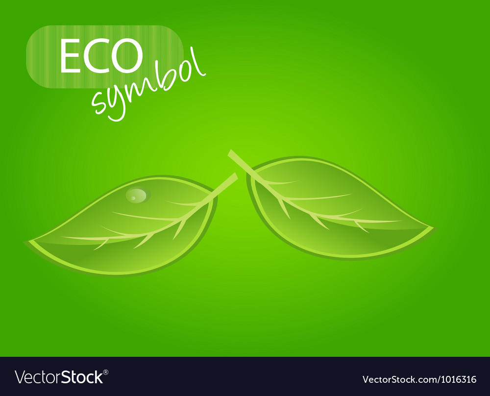 Environmental icon with plant vector | Price: 1 Credit (USD $1)