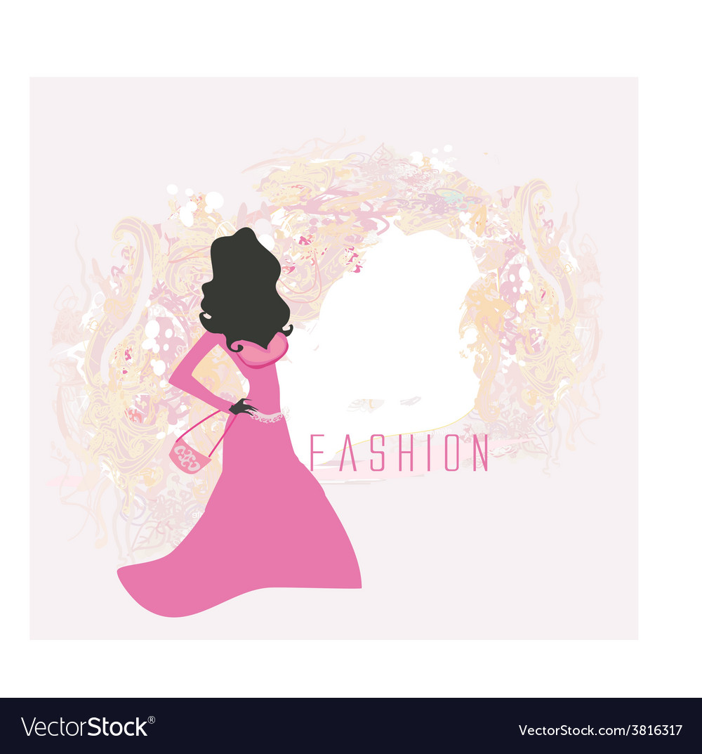 Abstract fashion girl shopping - vector | Price: 1 Credit (USD $1)