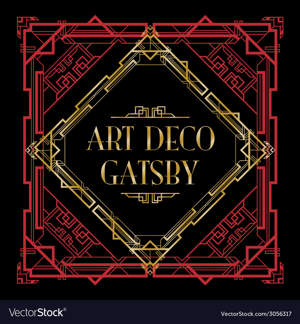 Art deco gatsby vector | Price: 1 Credit (USD $1)