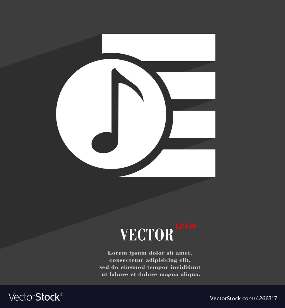 Audio mp3 fileicon symbol flat modern web design vector | Price: 1 Credit (USD $1)