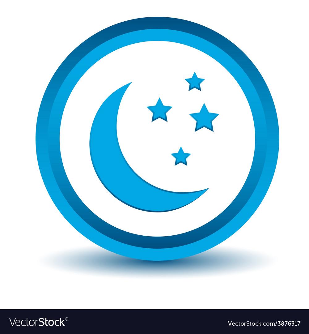 Blue moon icon vector | Price: 1 Credit (USD $1)