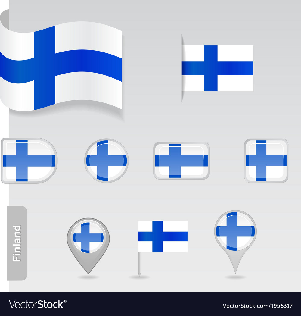 Finland icon set of flags vector | Price: 1 Credit (USD $1)