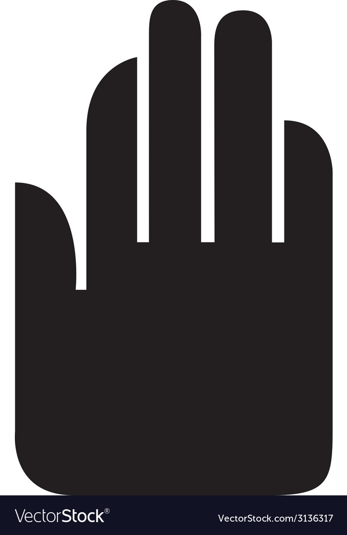 Hand stop design vector | Price: 1 Credit (USD $1)