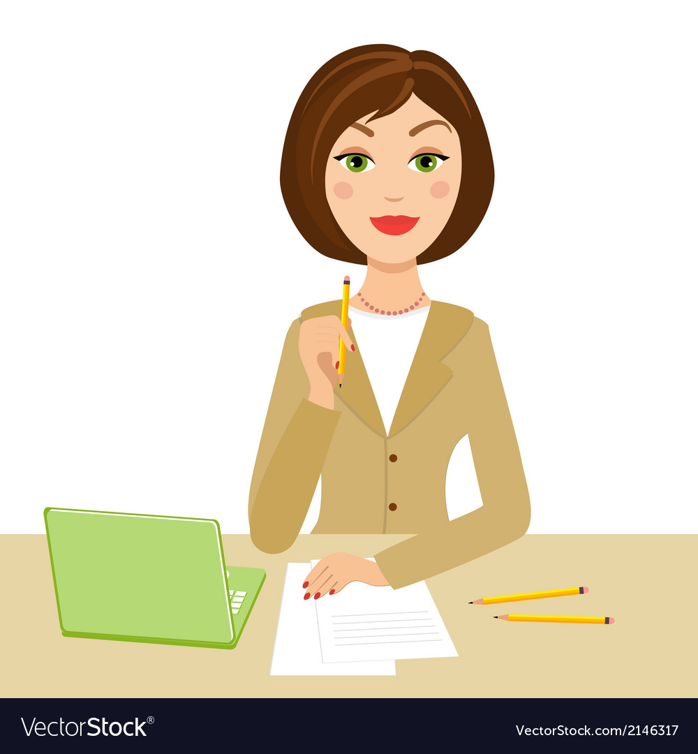 Office secretary vector | Price: 1 Credit (USD $1)