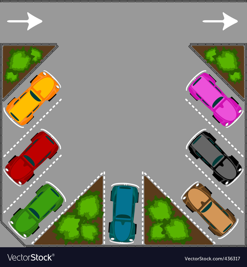 Parking for cars vector | Price: 1 Credit (USD $1)