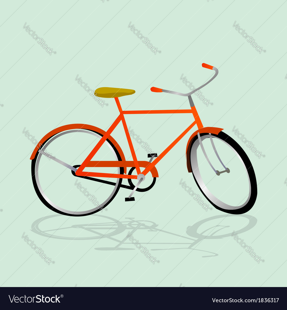 Retro bicycle vector | Price: 1 Credit (USD $1)