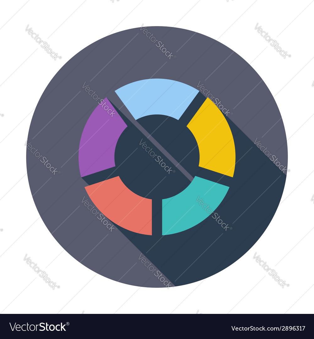 Round graph circular vector | Price: 1 Credit (USD $1)