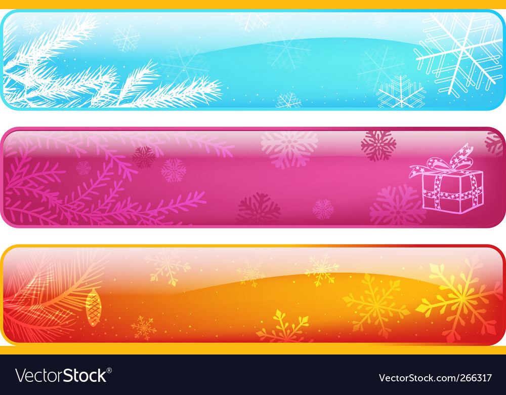 Set abstract christmas banners vector | Price: 1 Credit (USD $1)
