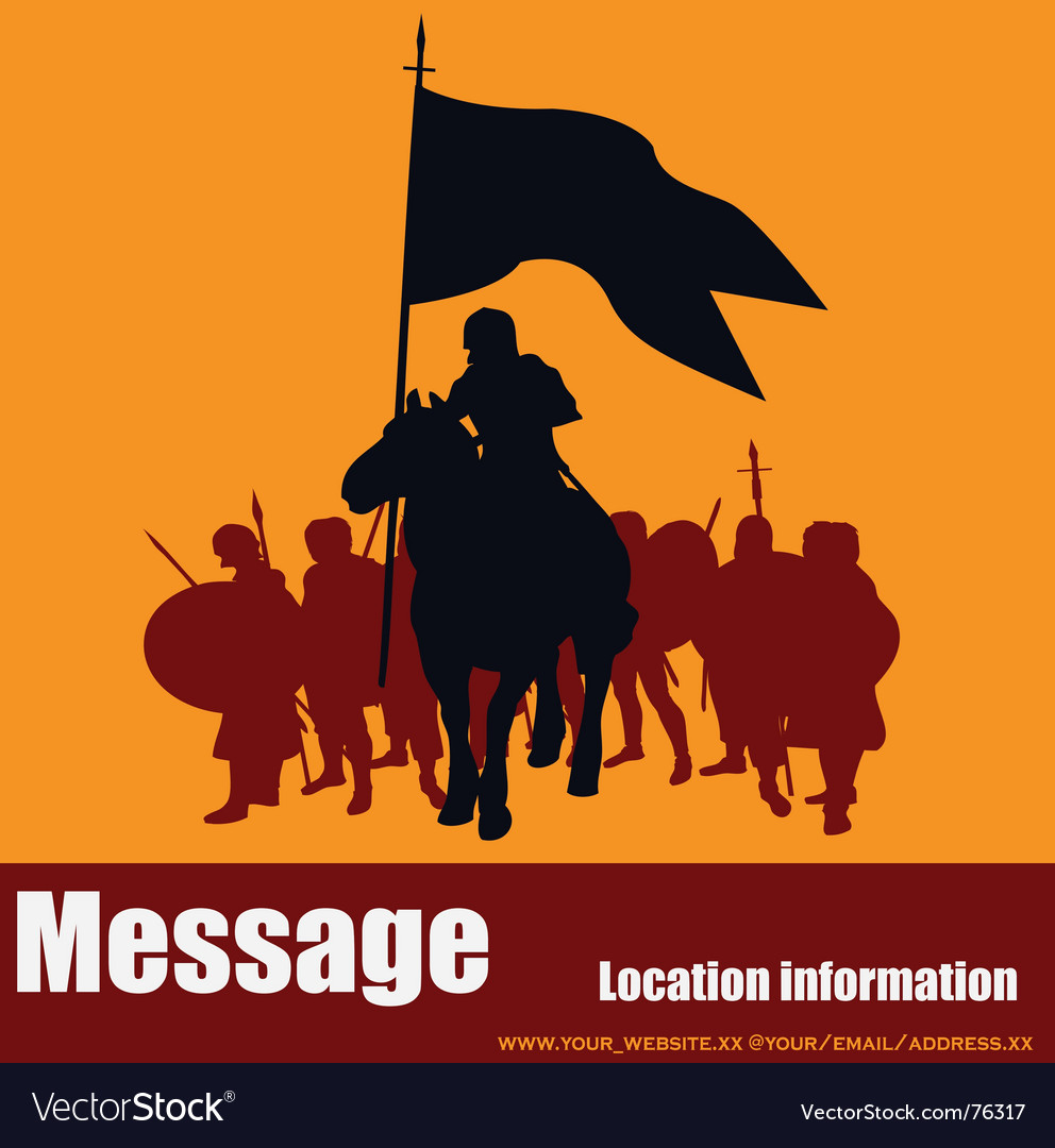 Warrior message vector | Price: 1 Credit (USD $1)