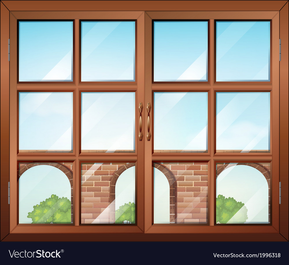 A closed window with a view of the gate vector | Price: 1 Credit (USD $1)