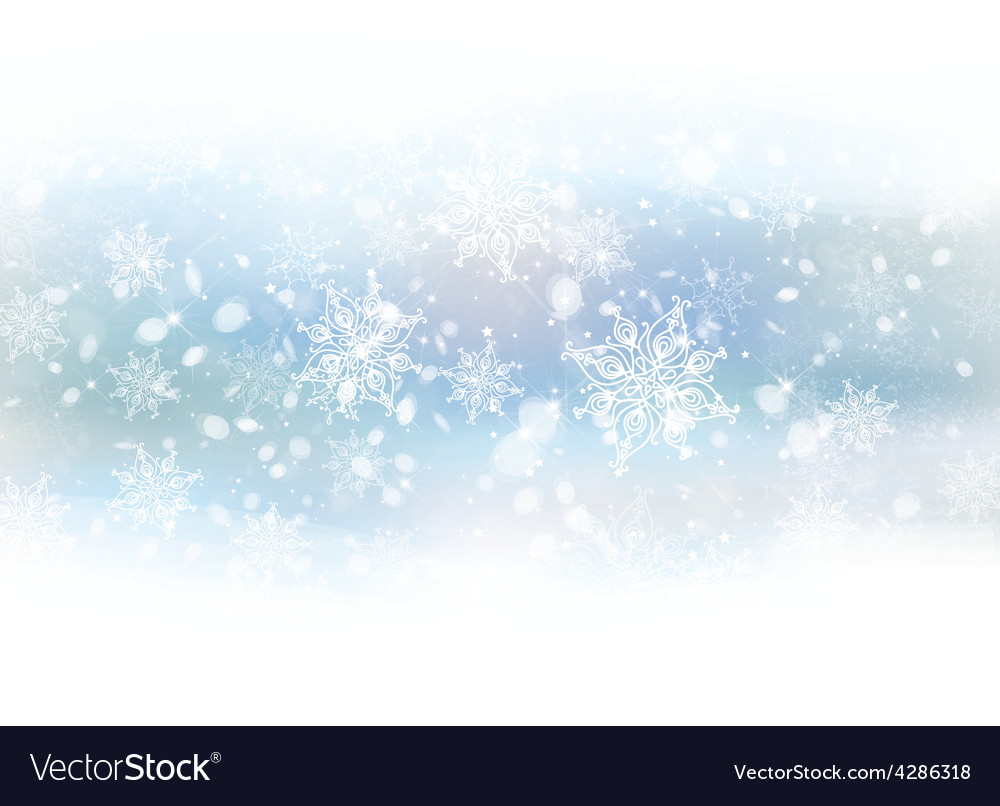 Background white snowflakes vector | Price: 3 Credit (USD $3)