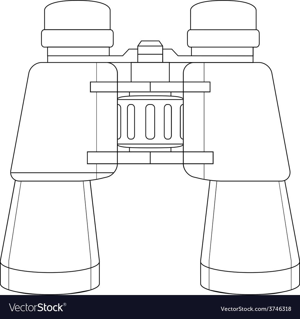 Binoculars icon contour vector   Price: 1 Credit (USD $1)