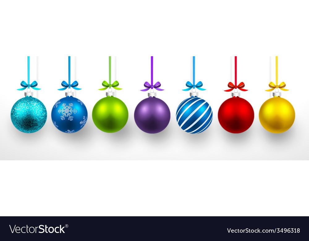 Christmas balls vector | Price: 1 Credit (USD $1)