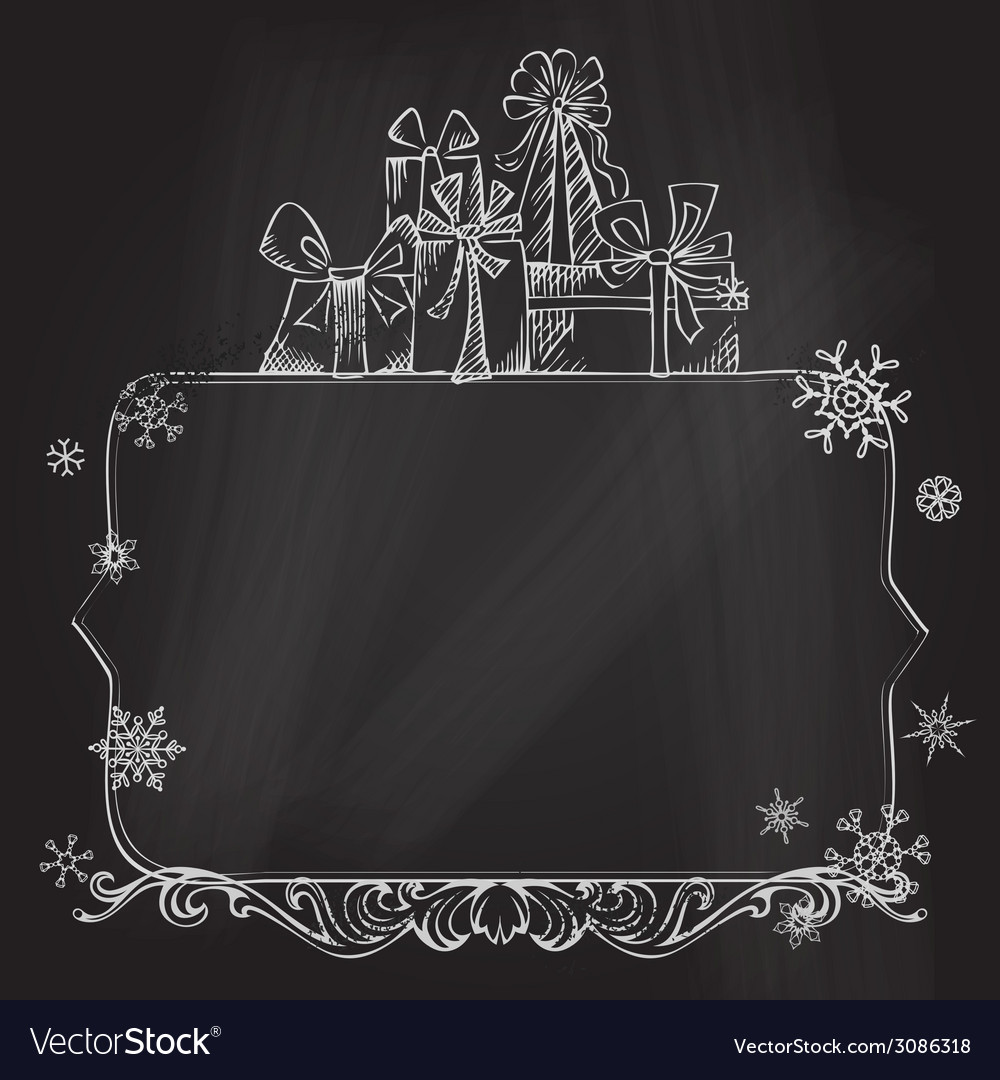 Christmas chalkboard background vector | Price: 1 Credit (USD $1)