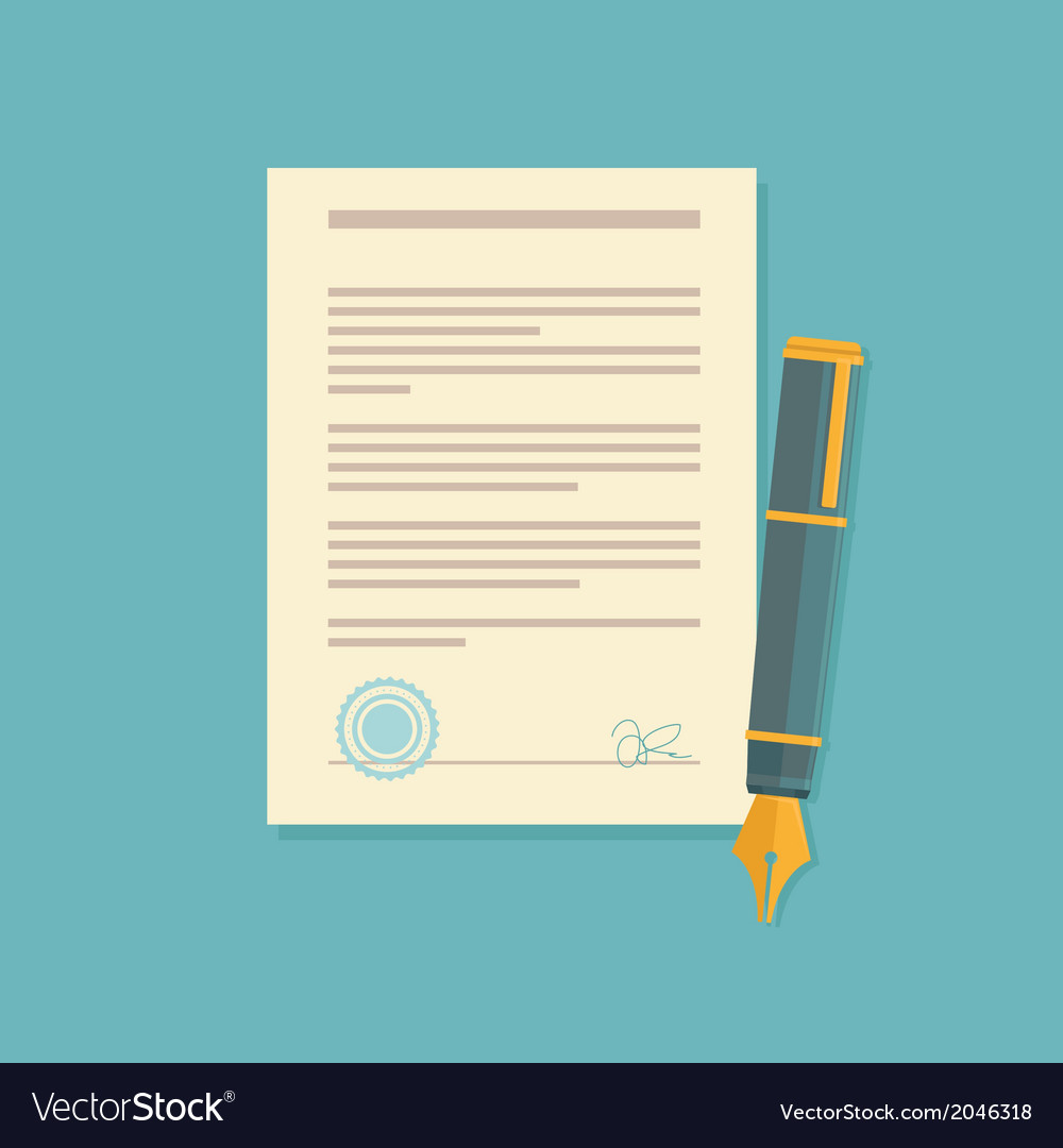 Contract sign vector | Price: 1 Credit (USD $1)