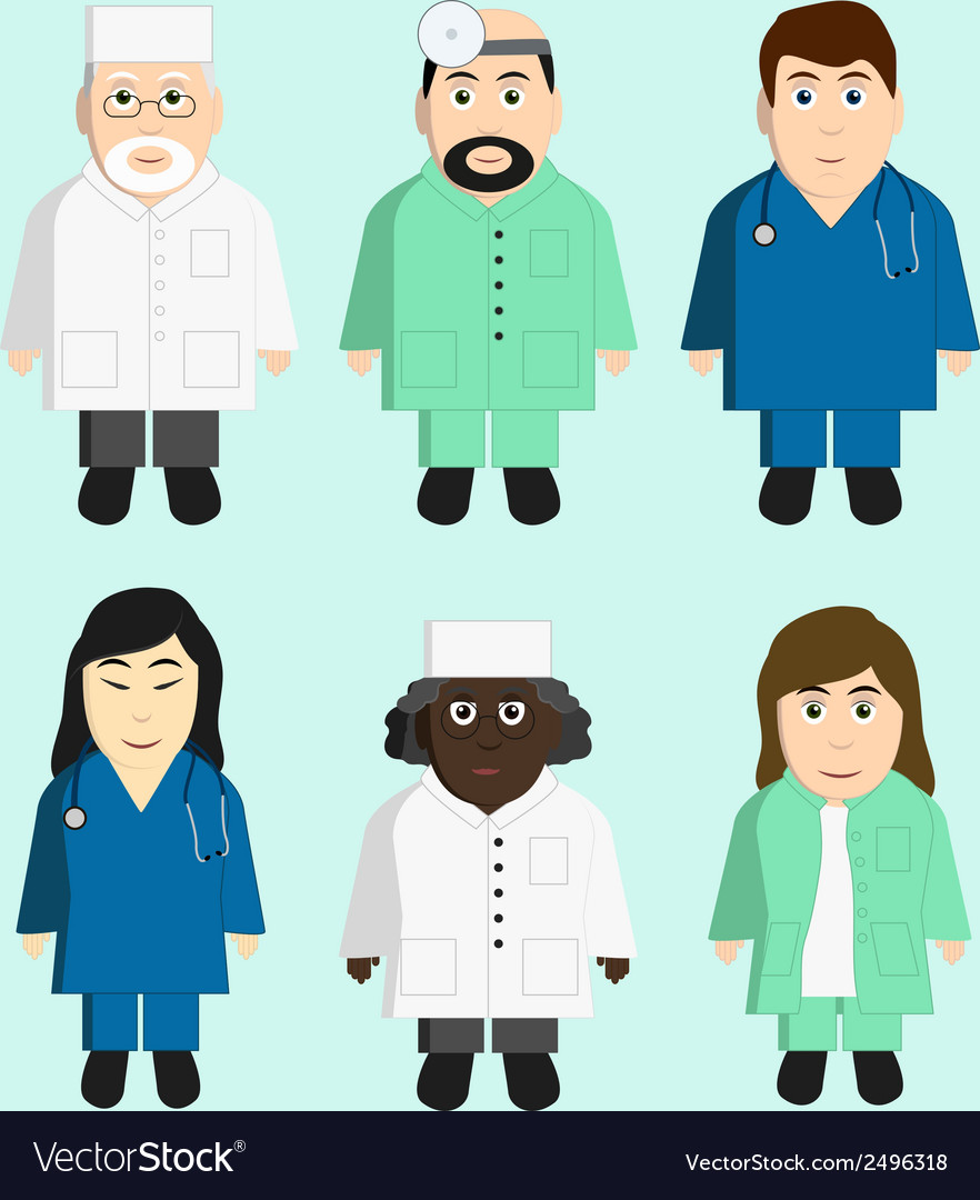 Doctors character collection vector | Price: 1 Credit (USD $1)