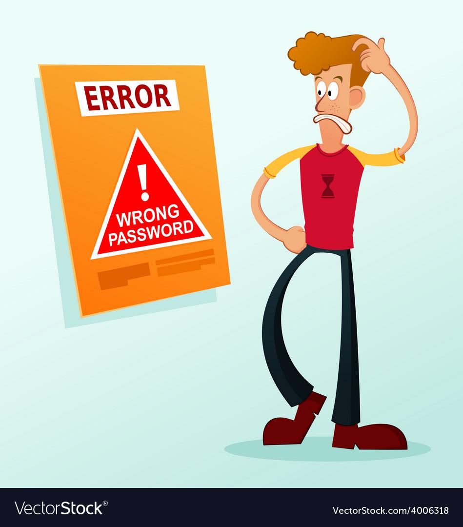 Error message vector | Price: 3 Credit (USD $3)