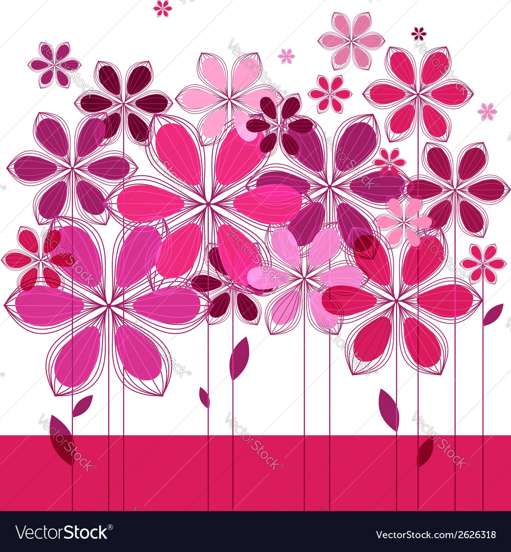 Greeting card floral composition vector | Price: 1 Credit (USD $1)