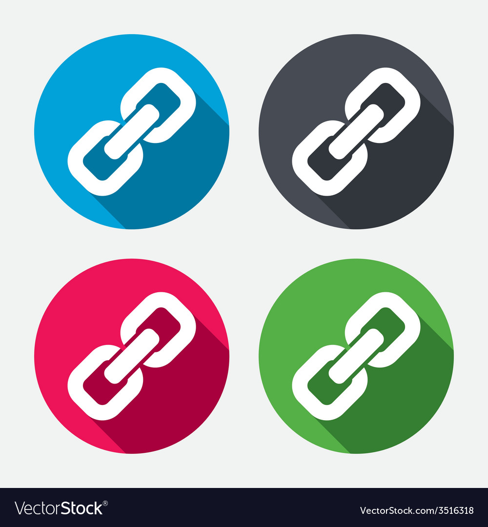 Link sign icon hyperlink symbol vector | Price: 1 Credit (USD $1)