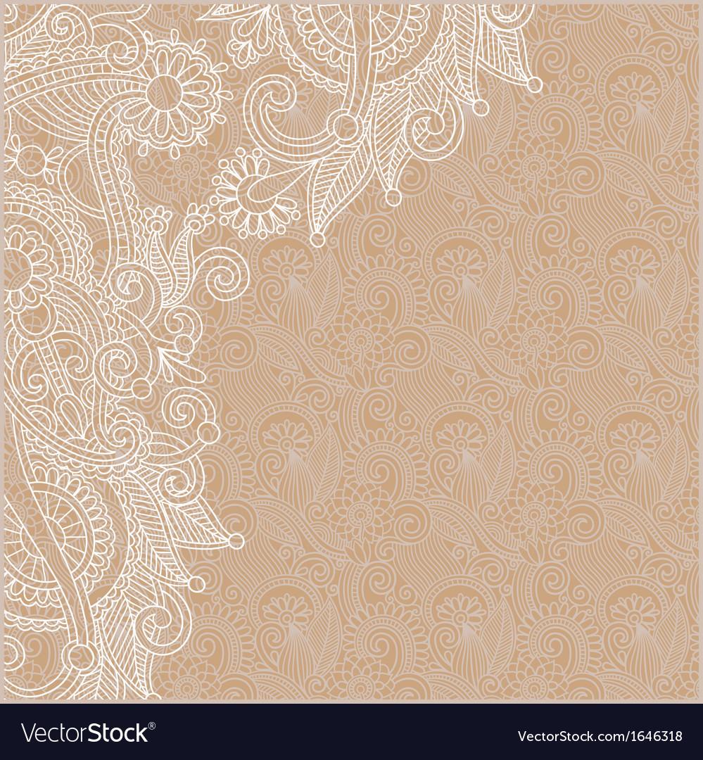Ornamental vintage floral background vector | Price: 1 Credit (USD $1)