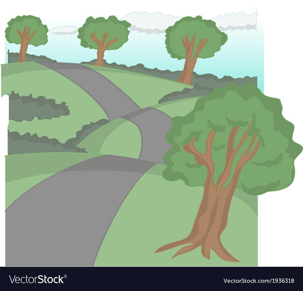 Road cartoon vector | Price: 1 Credit (USD $1)