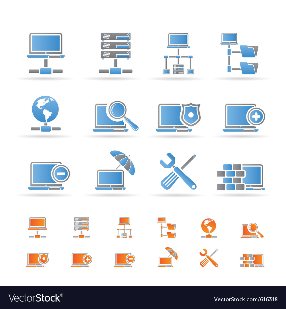 Server and hosting icons vector | Price: 1 Credit (USD $1)