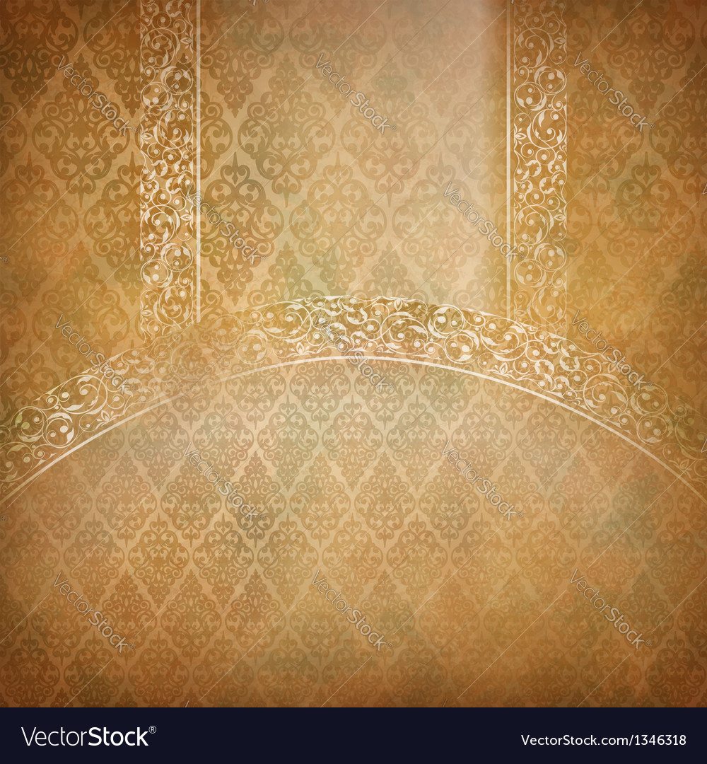 Vintage lace banner vector | Price: 1 Credit (USD $1)