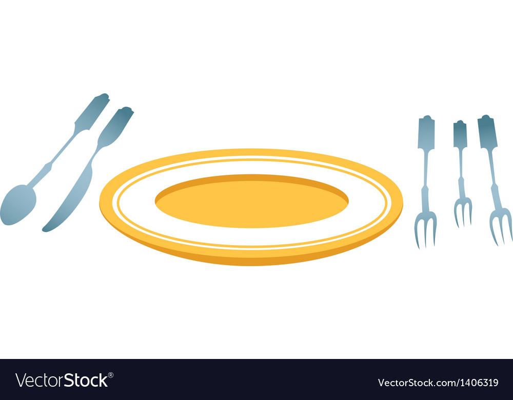 A plate is placed vector | Price: 1 Credit (USD $1)