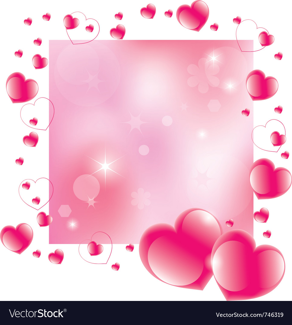 Abstract valentines day background vector | Price: 1 Credit (USD $1)