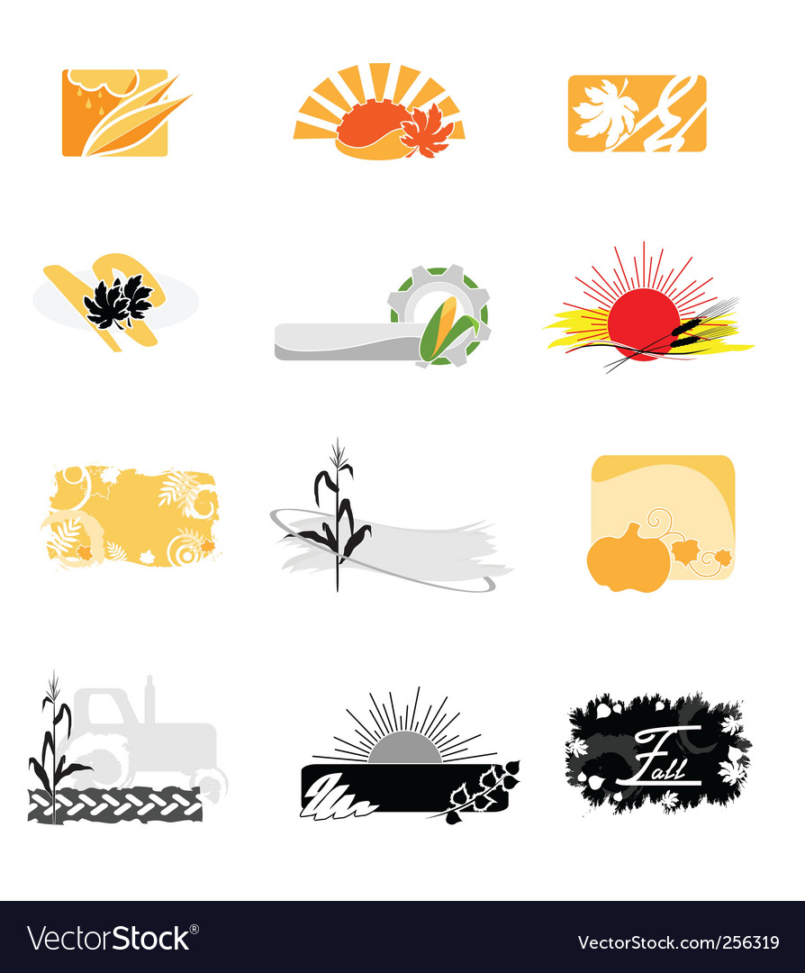 Autumnal icons vector | Price: 1 Credit (USD $1)