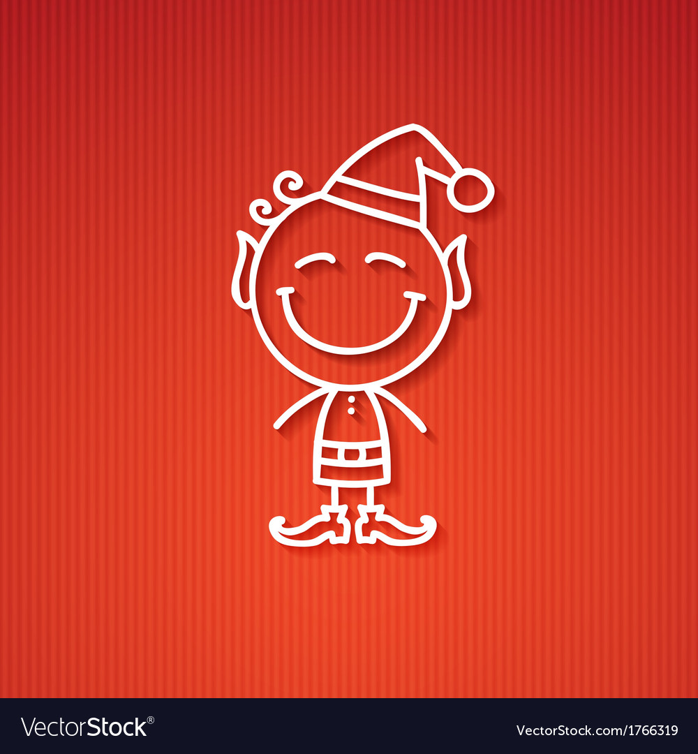 Christmas elf vector | Price: 1 Credit (USD $1)