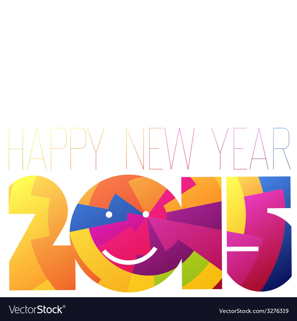 Colorful 2015 new year vector | Price: 1 Credit (USD $1)