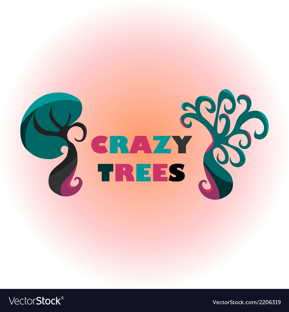Crazy trees vector | Price: 1 Credit (USD $1)