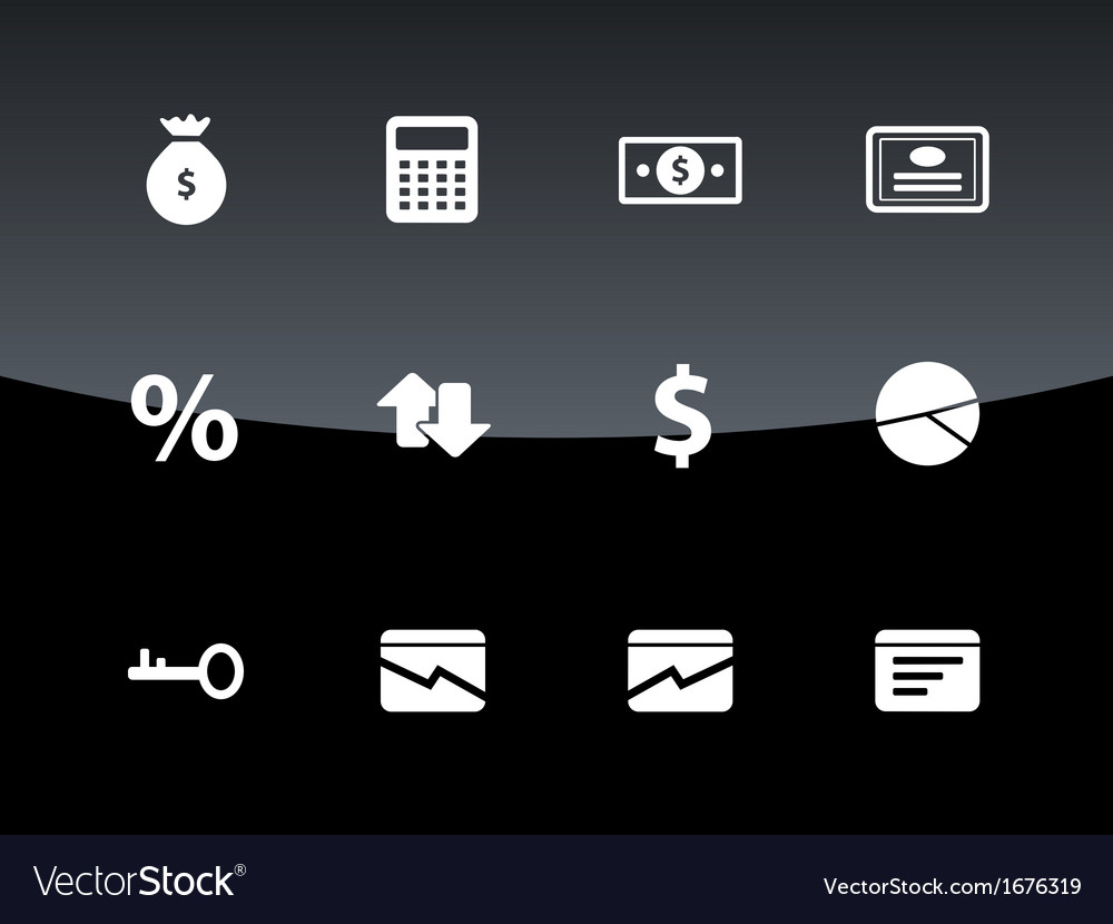 Economy icons on black background vector | Price: 1 Credit (USD $1)
