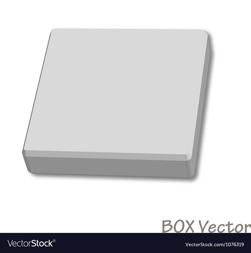 Empty paper box vector | Price: 1 Credit (USD $1)