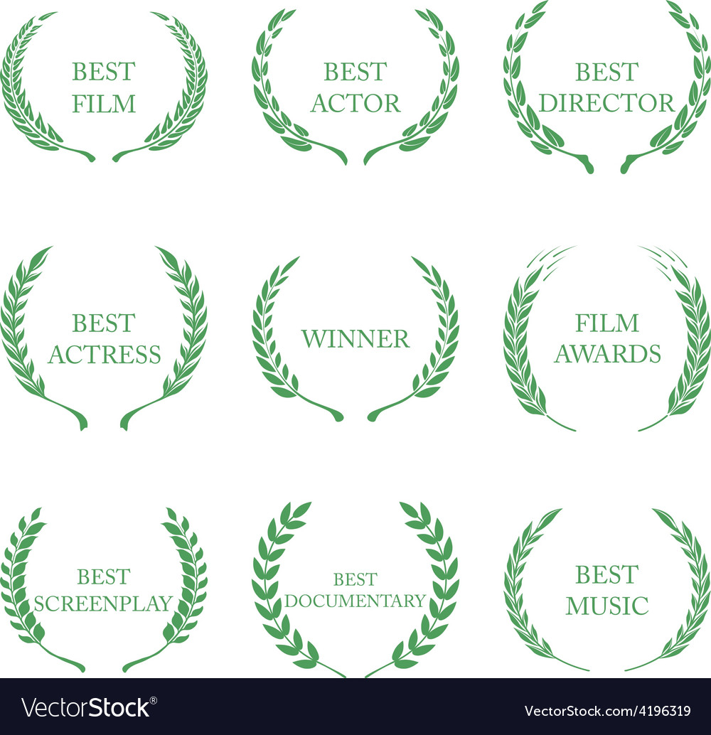 Film awards award wreaths on white background vector | Price: 1 Credit (USD $1)