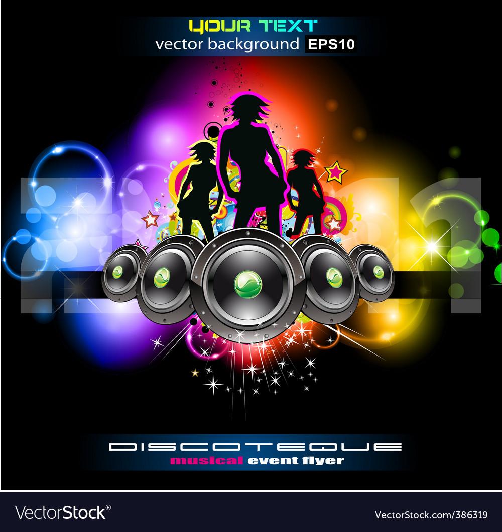 Girls night disco vector   Price: 3 Credit (USD $3)