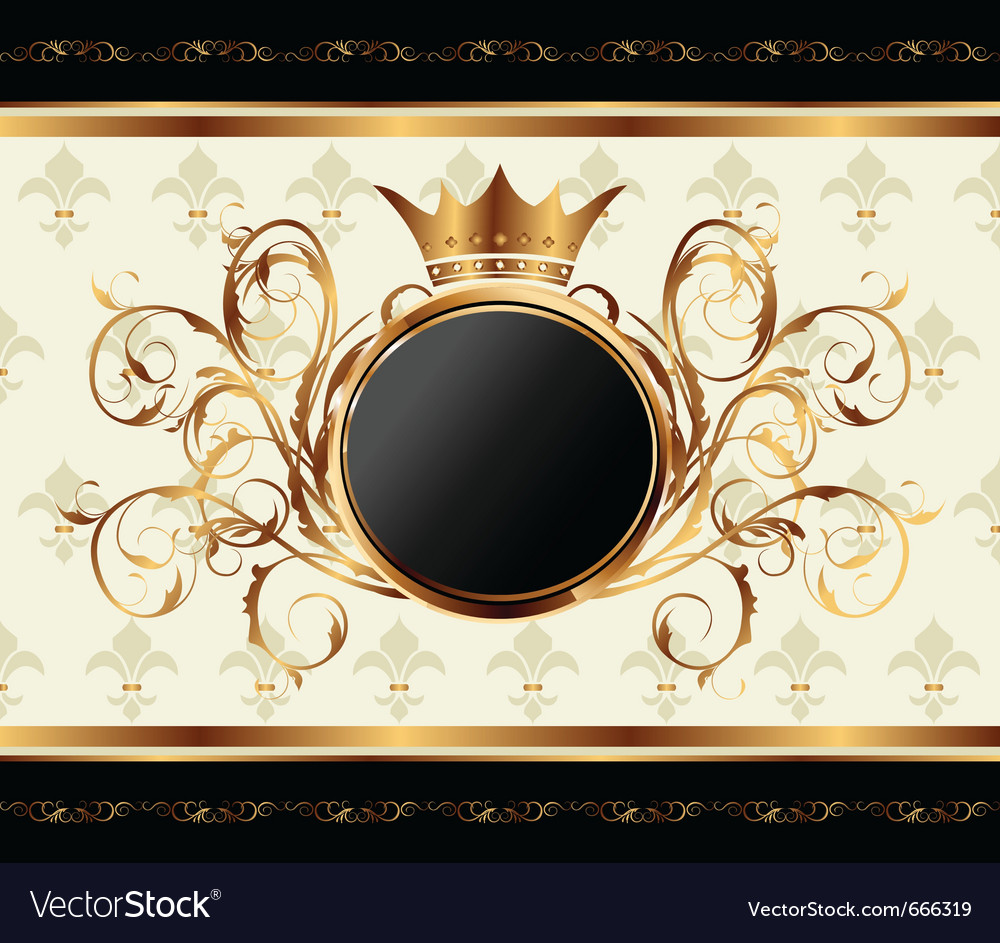 Gold invitation frame vector | Price: 1 Credit (USD $1)