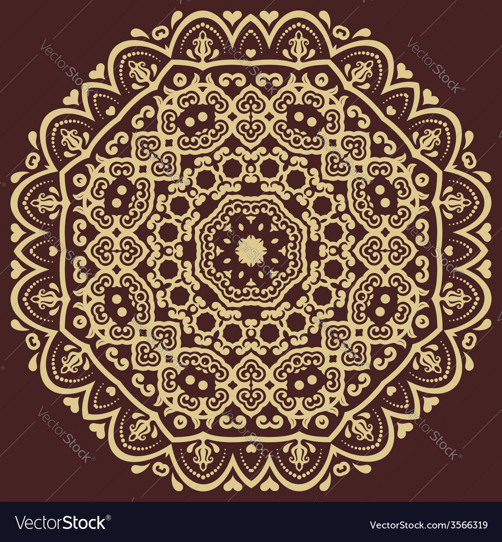 Orient pattern abstract background vector | Price: 1 Credit (USD $1)