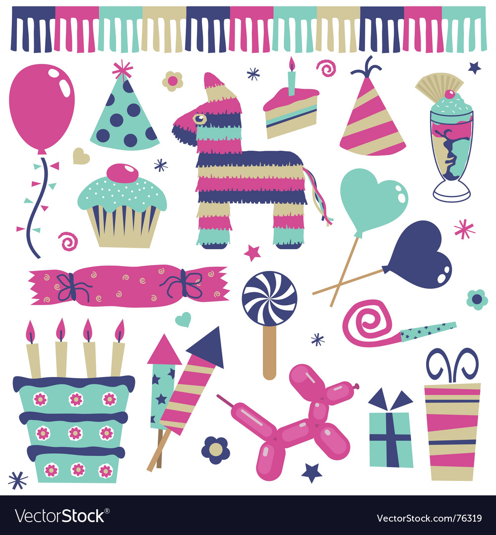 Party objects vector | Price: 3 Credit (USD $3)