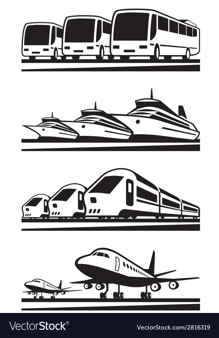 Passenger transportation vehicles vector | Price: 1 Credit (USD $1)