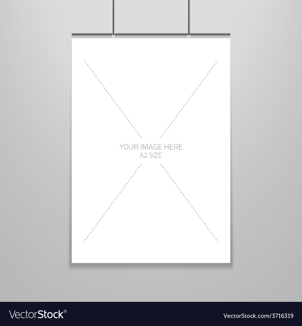 Poster template of a blank paper sheet in vector | Price: 1 Credit (USD $1)