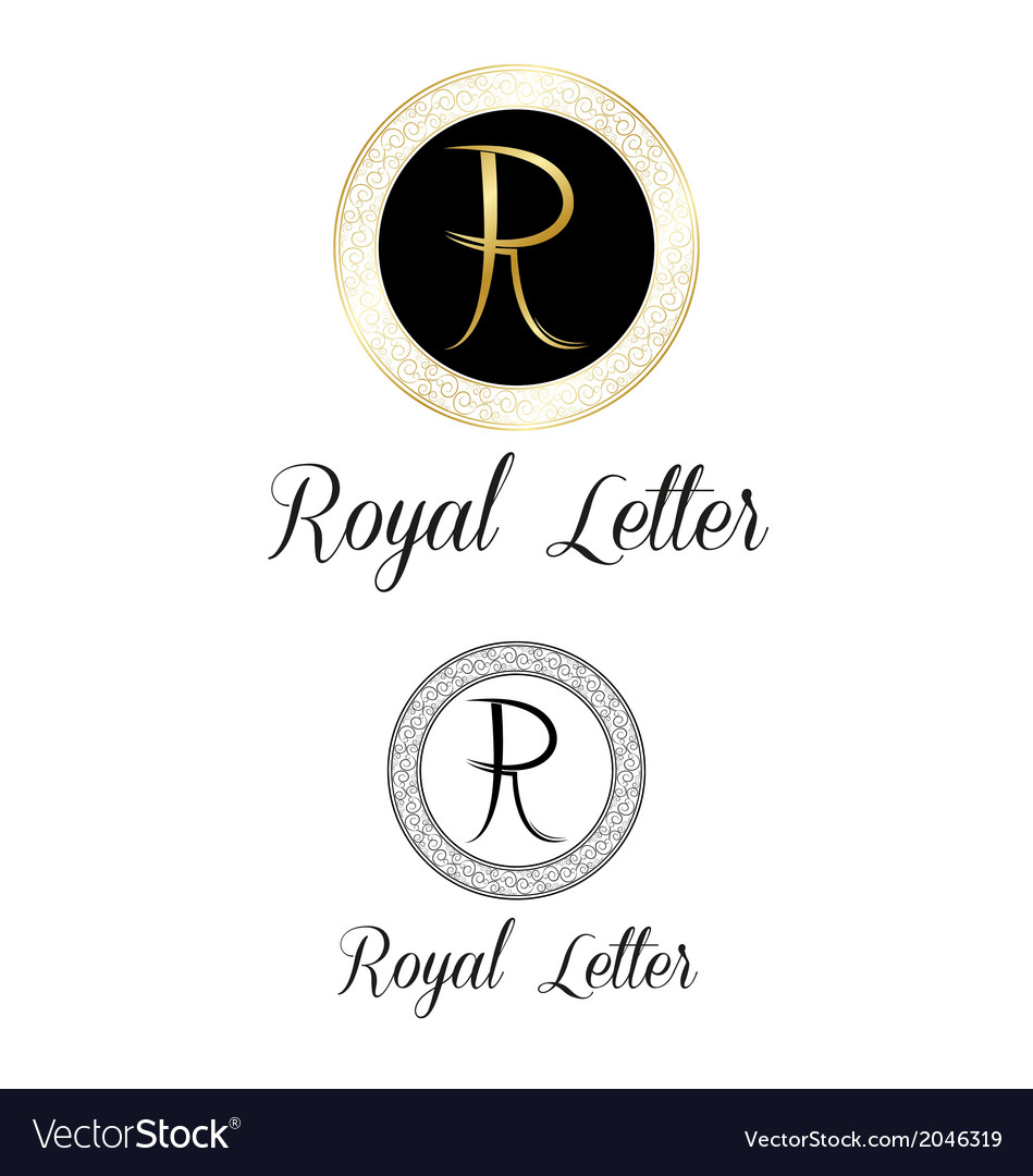 Royal letters logo vector   Price: 1 Credit (USD $1)