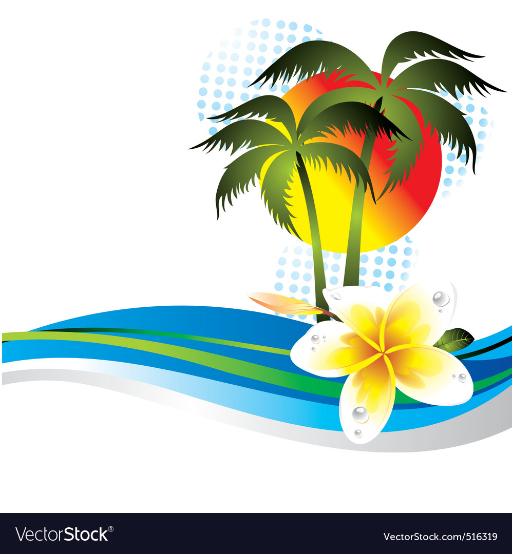 Summer tropical vector | Price: 1 Credit (USD $1)