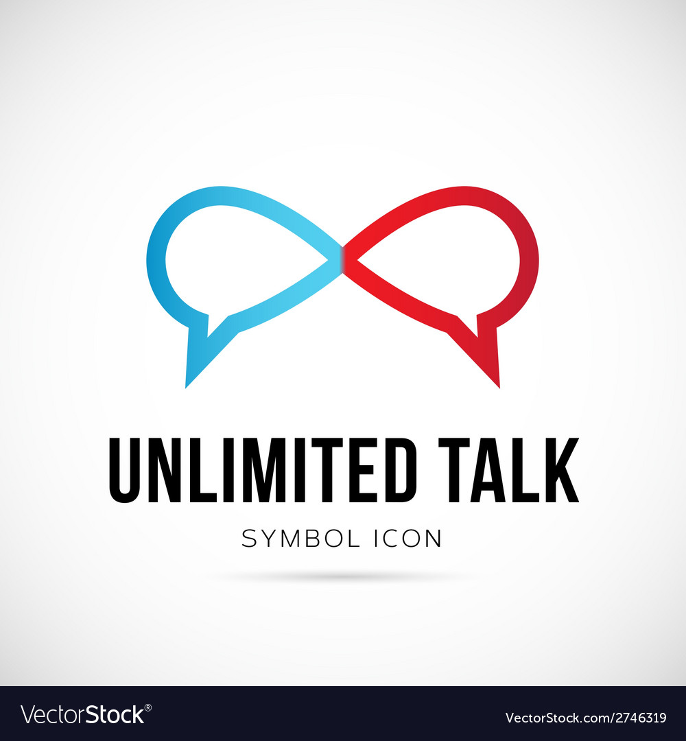 Unlimited talk concept symbol icon or logo vector | Price: 1 Credit (USD $1)